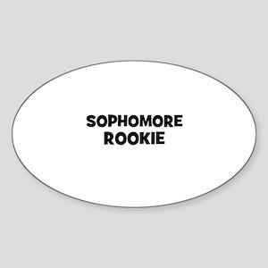 sophomore Rookie Oval Sticker