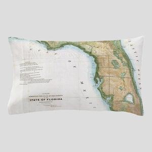 Vintage Map of Florida (1848) Pillow Case