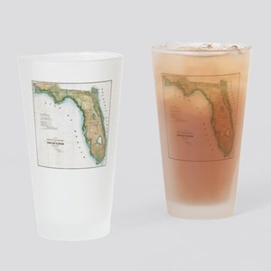 Vintage Map of Florida (1848) Drinking Glass