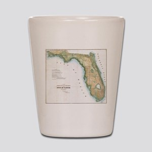 Vintage Map of Florida (1848) Shot Glass