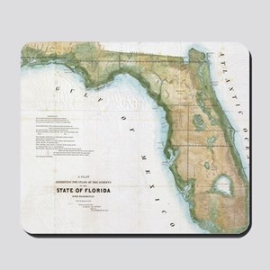 Vintage Map of Florida (1848) Mousepad