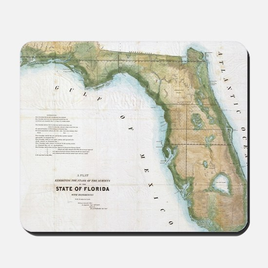 Vintage Map of Florida (1848) Mousepad
