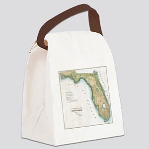 Vintage Map of Florida (1848) Canvas Lunch Bag