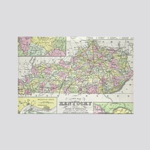 Vintage Map of Kentucky (1850) Rectangle Magnet