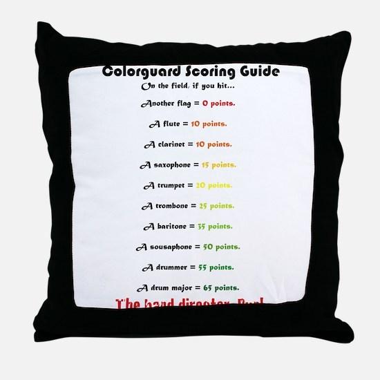 Scoring Guide Throw Pillow