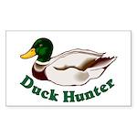 Duck Hunter Rectangle Sticker