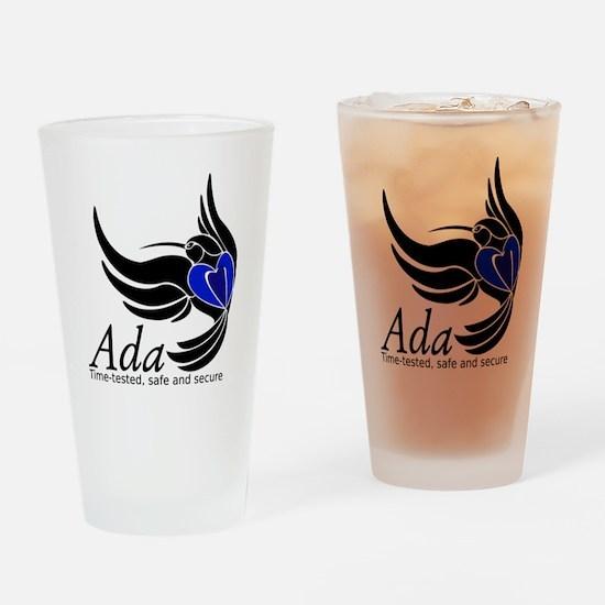 Ada Mascot Logo Drinking Glass