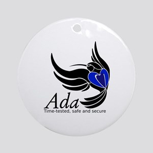 Ada Mascot Logo Round Ornament