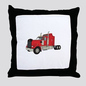 Kenworth Tractor Throw Pillow