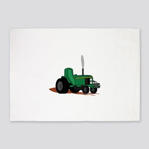 Pulling Tractor 5'x7'Area Rug