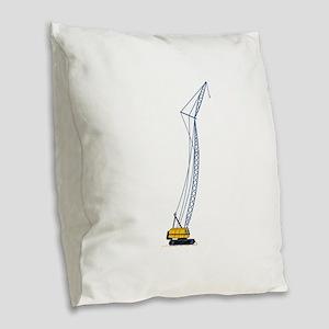 Crane Burlap Throw Pillow