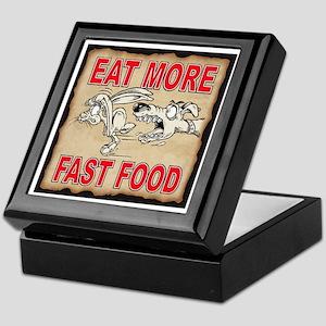 EAT MORE FAST FOOD Keepsake Box
