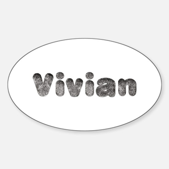 Vivian Wolf Oval Decal