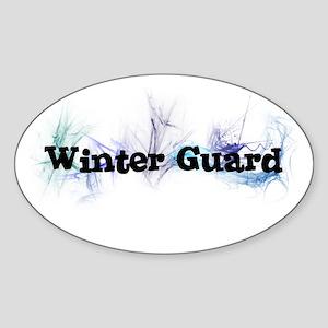 Winter Guard Oval Sticker