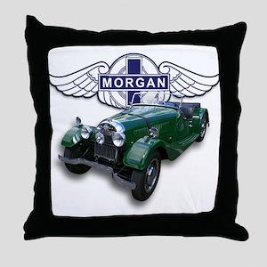 Green British Morgan Throw Pillow