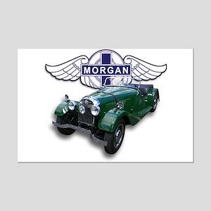 Green British Morgan Mini Poster Print