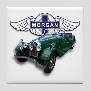 Green British Morgan Tile Coaster