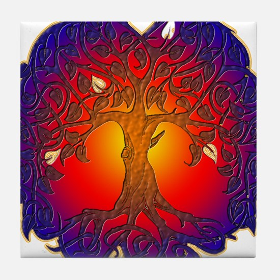 Tree of Life Tile Coaster