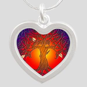 Yggdrasil Silver Heart Necklace