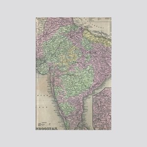 Vintage Map of India (1853) Rectangle Magnet