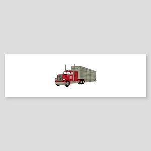 Semi Truck Bumper Sticker