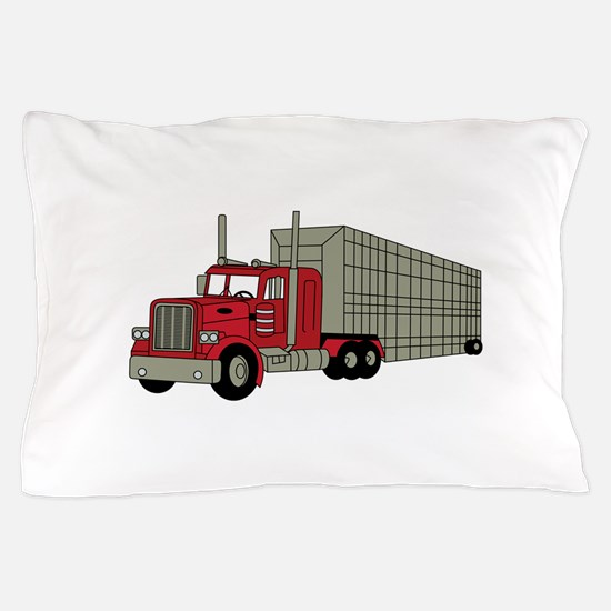 Semi Truck Pillow Case