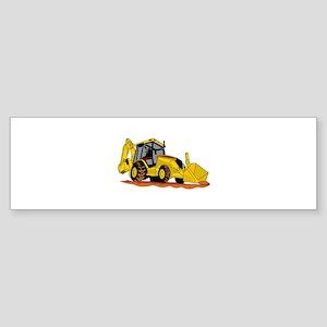 Backhoe Loader Bumper Sticker