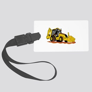 Backhoe Loader Luggage Tag