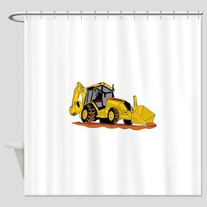 Backhoe Loader Shower Curtain