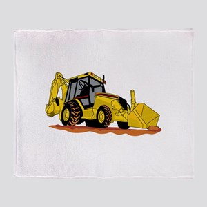 Backhoe Loader Throw Blanket