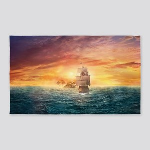 Pirate ship  Area Rug