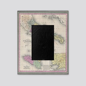 Vintage Map of Southern Italy (1853) Picture Frame