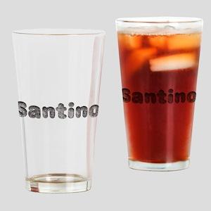 Santino Wolf Drinking Glass