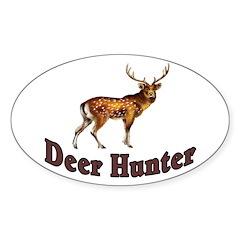Deer Hunter Oval Decal
