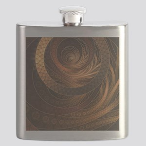 Brown, Bronze, Wicker, and Rattan Fractal Ci Flask