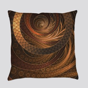 Brown, Bronze, Wicker, and Rattan Everyday Pillow