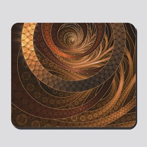 Brown, Bronze, Wicker, and Rattan Fracta Mousepad