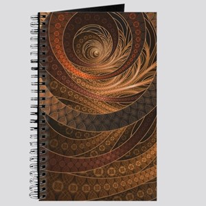 Brown, Bronze, Wicker, and Rattan Fractal Journal