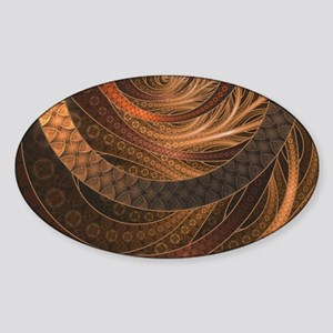 Brown, Bronze, Wicker, and Rattan Fractal Sticker