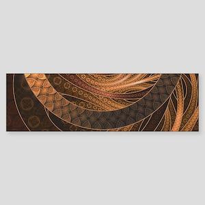 Brown, Bronze, Wicker, and Rattan F Bumper Sticker
