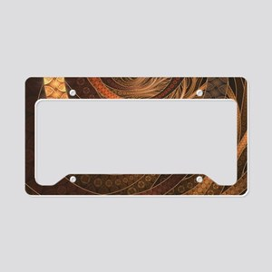 Brown, Bronze, Wicker, and Ra License Plate Holder