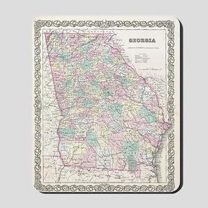 Vintage Map of Georgia (1855) Mousepad