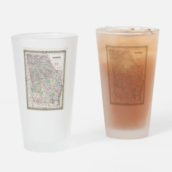 Vintage Map of Georgia (1855) Drinking Glass