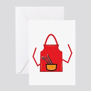 Grill Apron Greeting Cards