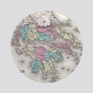 Vintage Map of Greece (1855) Round Ornament