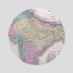 Vintage Map of India (1855) Round Ornament