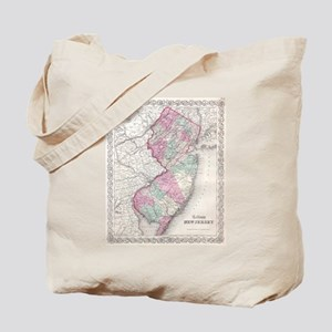 Vintage Map of New Jersey (1855) Tote Bag