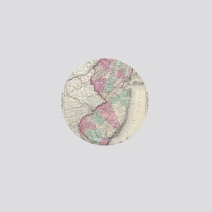 Vintage Map of New Jersey (1855) Mini Button