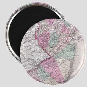 Vintage Map of New Jersey (1855) Magnet
