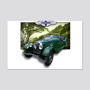 British Racing Green Morgan Mini Poster Print